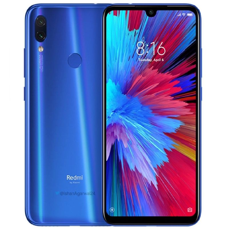 MOBILE PHONE XIAOMI 6.3 OCTA CORE 1.8GHZ 6GB 128GB DUAL SIM NOTE 7 PRO BLUE - - - ,Android Smartphone