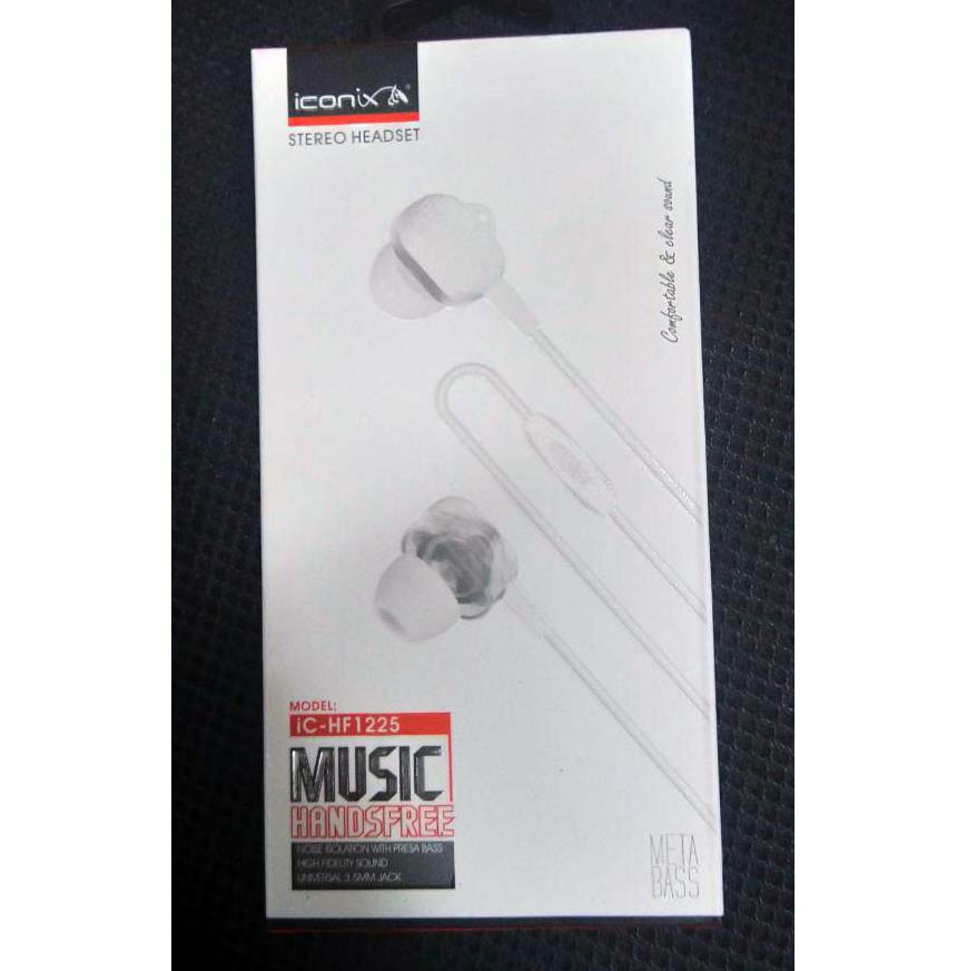 EARPHONE I CONIX FOR IOS/ANDROID WITH MIC HIGH QUALITY IC-HF 1225 ضغط - - ,Smartphones & Tab Headsets
