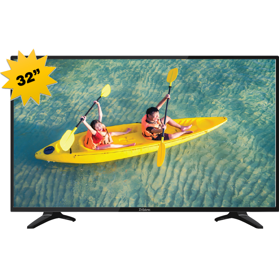 MONITOR D-LED TV 32 TRIVIEW SMART VDSPO 220V HD MICRO SD+HDMI BLACK+قاعدة جدارية ,LED