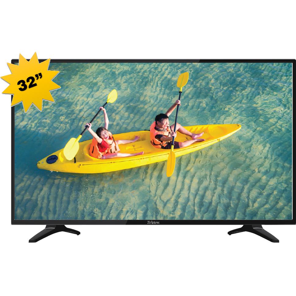 MONITOR D-LED TV 32 TRIVIEW SMART 32733273VDSPO 220V HD MICRO SD+HDMI BLACK+قاعدة جدارية ,LED