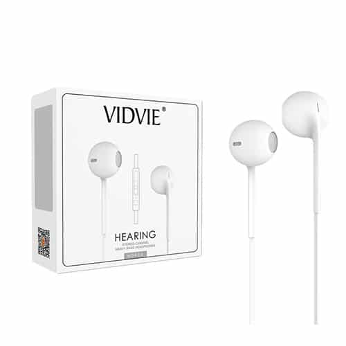 EARPHONE VIDVIE FOR IOS/ANDROID WITH MIC+ HIGH QUALITY HS604 ,Smartphones & Tab Headsets