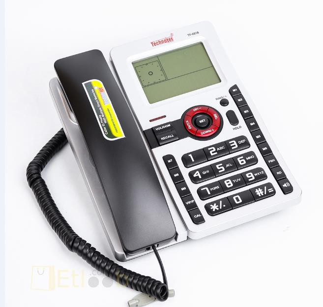 TELEPHONE TECHNOTEL WIRED WITH LCD TF-6918 COLOR هاتف ارضي مع شاشة ,Desktop Phone