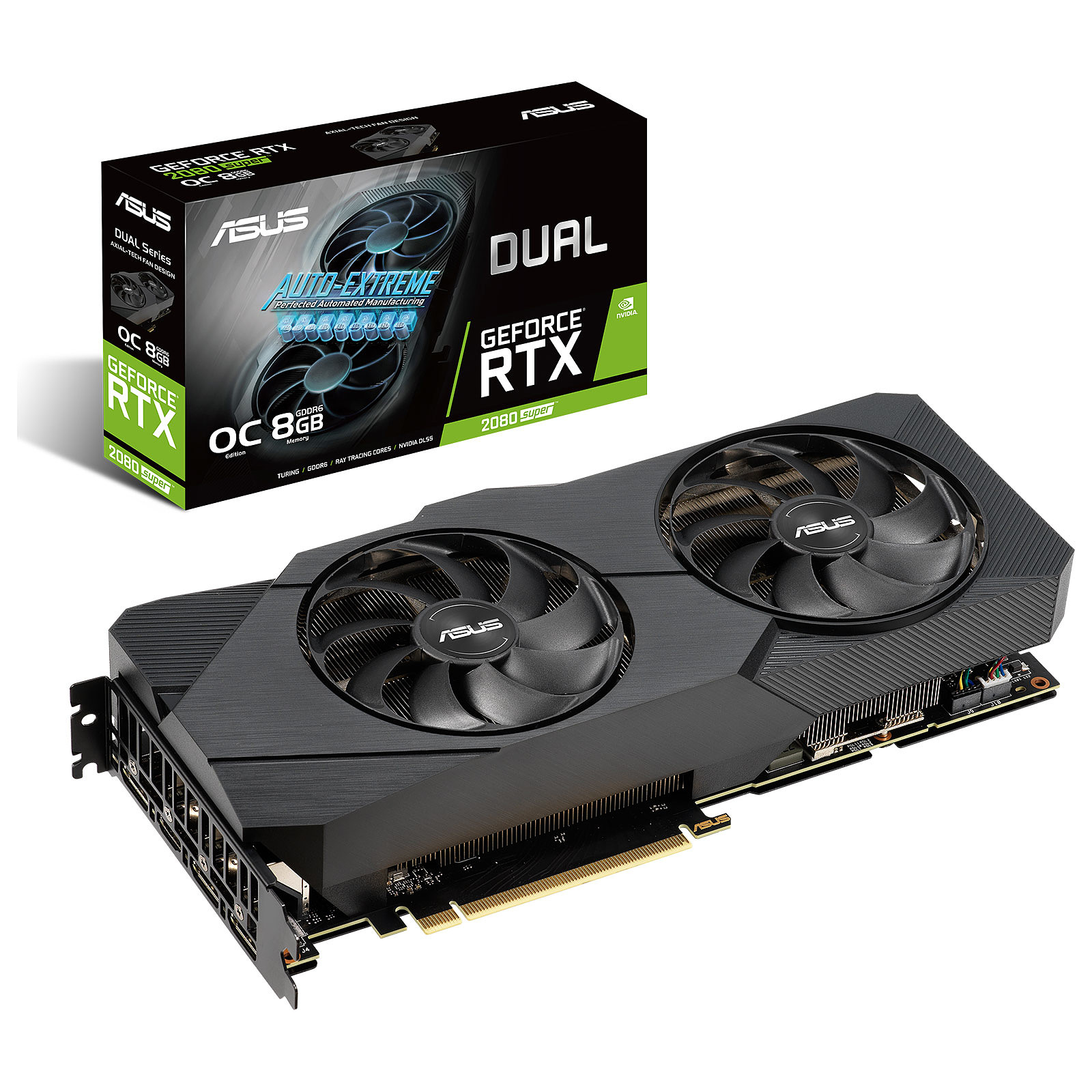 VGA ASUS GEFORCE ROG STRIX DUAL-RTX2080S-O8G-EVO OC 8GB GDDR6 256-BIT ,Desktop Graphic Card