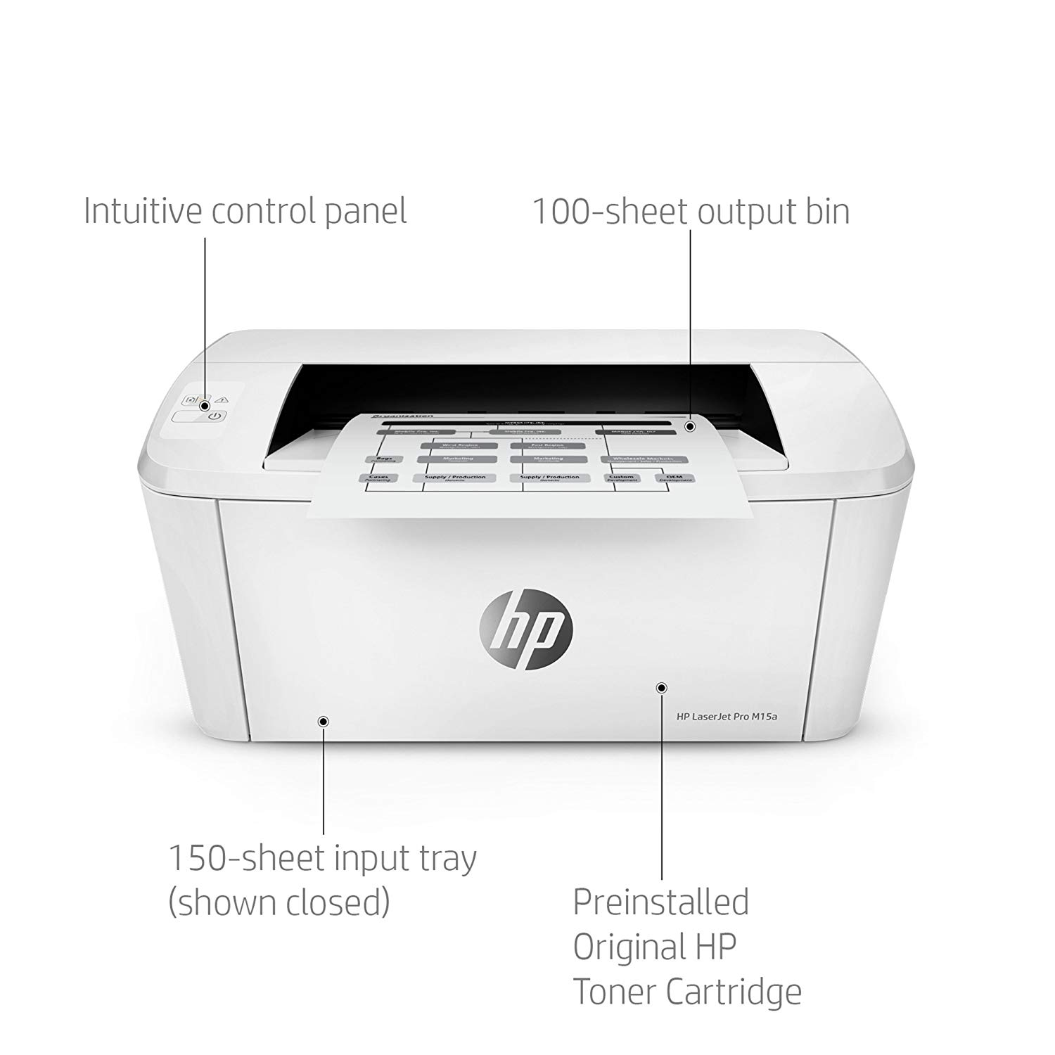 PRINTER HP LASERJET PRO M15A ,Laser Printer