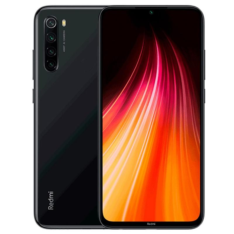 MOBILE PHONE XIAOMI 6.3 OCTA CORE 1.8GHZ 4GB 128GB DUAL SIM REDMI NOTE 8 - BLACK كفالة ذهبية ,Android Smartphone