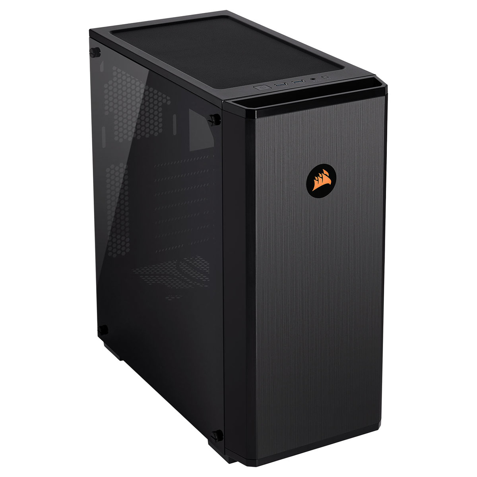 CASE CORSAIR GAMING MIDDLE TOWER 175R RGB CARBIDE SERIES TEMPERED GLASS BLACK CC-9011171-WW ,Case & Power Supply
