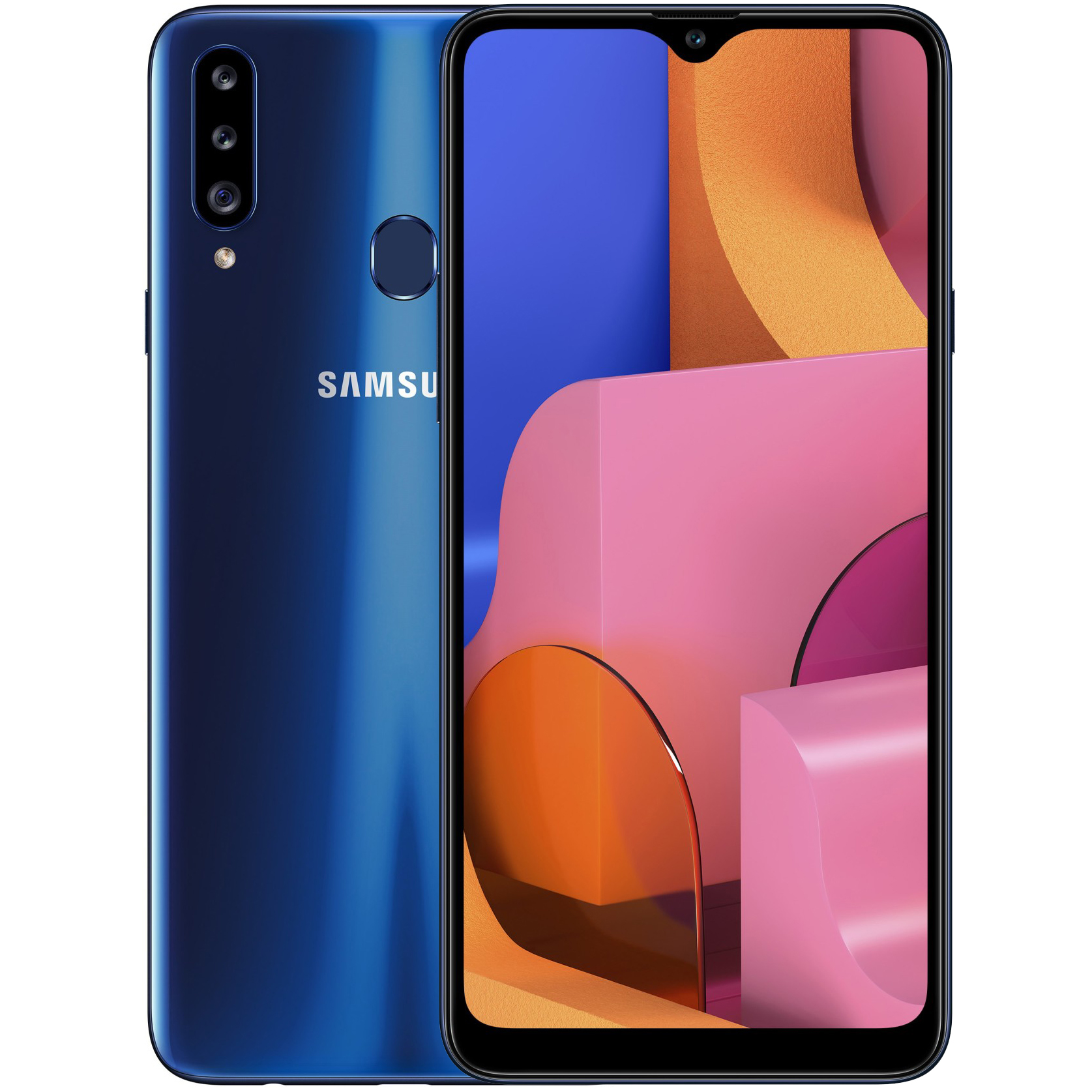 MOBILE PHONE SAMSUNG 6.5 OCTA CORE 1.6GHZ 3GB 32GB DUAL SIM GALAXY A20S - BLUE ,Android Smartphone