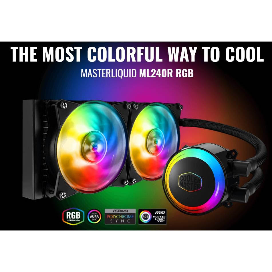 LIQUIDE CPU COOLER MASTERLIQUID ML240RS RGB ,Fan Cooler