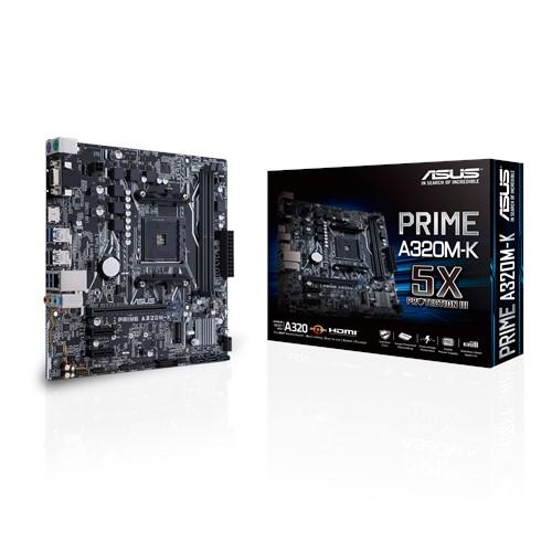 MB ASUS AMD PRIME A320M-K AM4 DDR4 32Gb M.2 HDMI SATA 6Gb USB 3.0+AMD RYZEN 3 3200G 3.6 UP 4.0GHz 4CORE 4THREAD VEGA 8 ,Desktop Mainboard