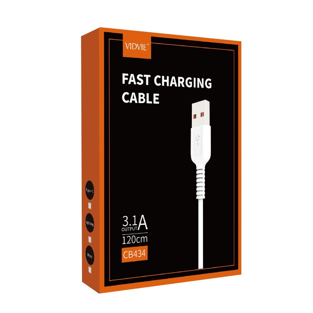 CABLE MICRO USB DATA & CHARGE VIDVIE 3.1A CB434 ,Other Smartphone Acc