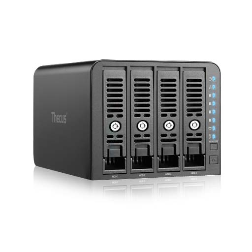 NETWORK STORAGE 4BAY SATA+ LAN+USB THECUS N4350 - ,NAS HDD