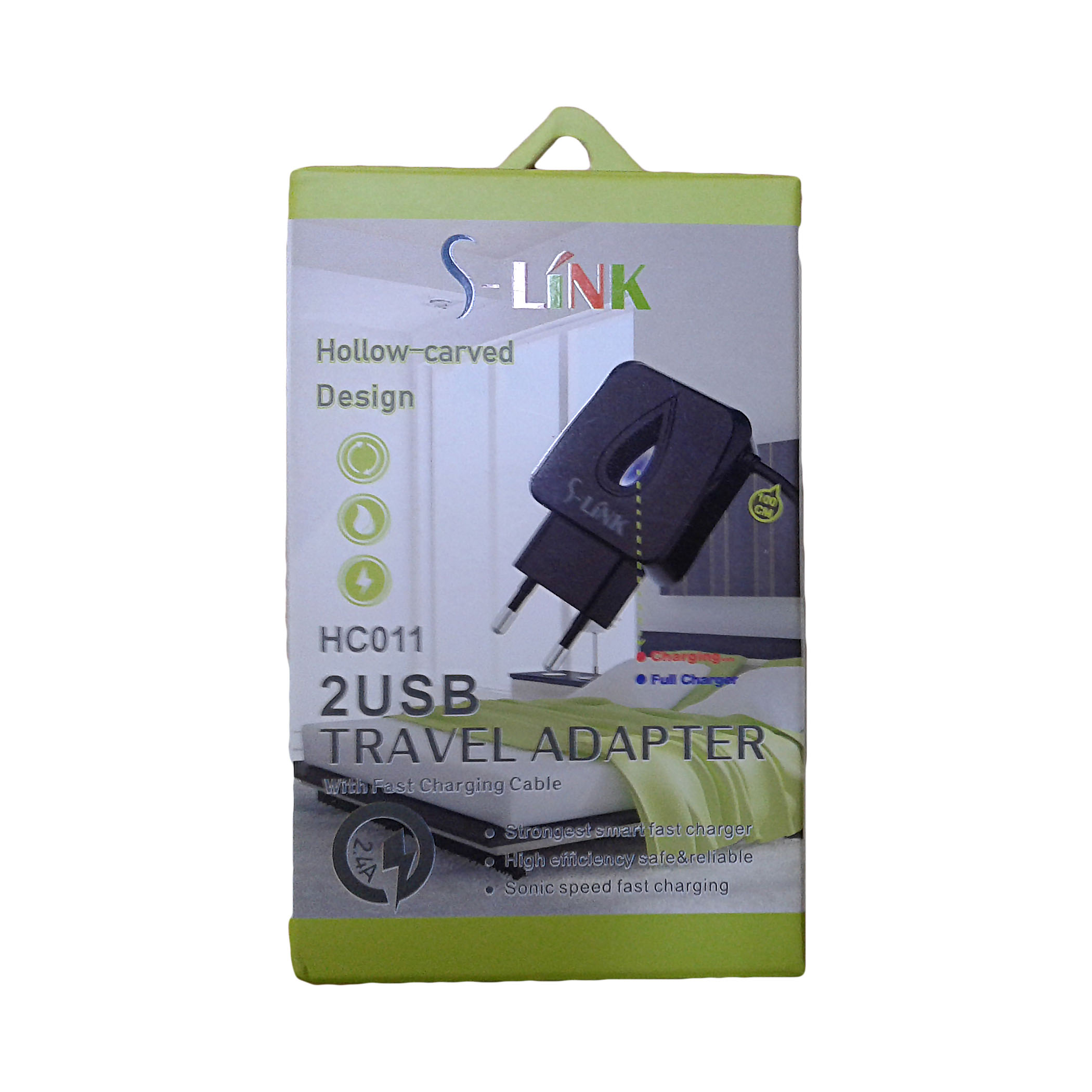 CHARGER DUAL USB FOR MOBILE&TAB ANDROID - S-LINK HC 014/HC 011/HC 012/HC 015 شاحن مخرجين 2.4 امبير مع كبل ,Smartphones & Tab Chargers