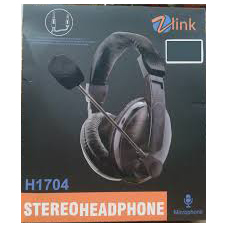 STEREO HEADPHONE ZLINK H1704 COMFORTABLE AND SOFT EARMUFFS ,Headphones & Mics