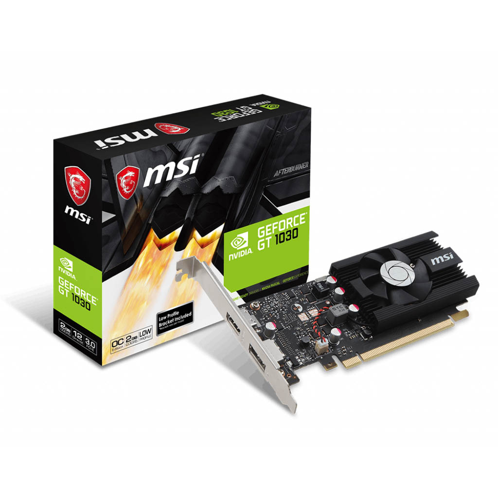VGA MSI GEFORCE GAMING GT1030 2G GDDR5 64BIT HDMI&DVI PCIEX OC EDITION ,Desktop Graphic Card