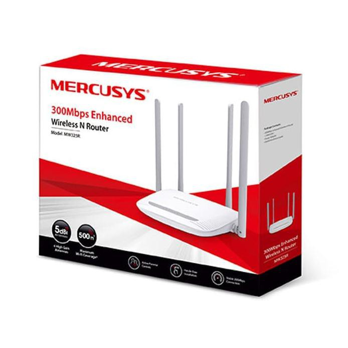 MERCUSYS MW325R 3-in-1 Wi-Fi / REPEATER+ROUTER Access Point / X4 5dbi ANTENNA /PARENTAL CONTROL ,Wirless & Switch
