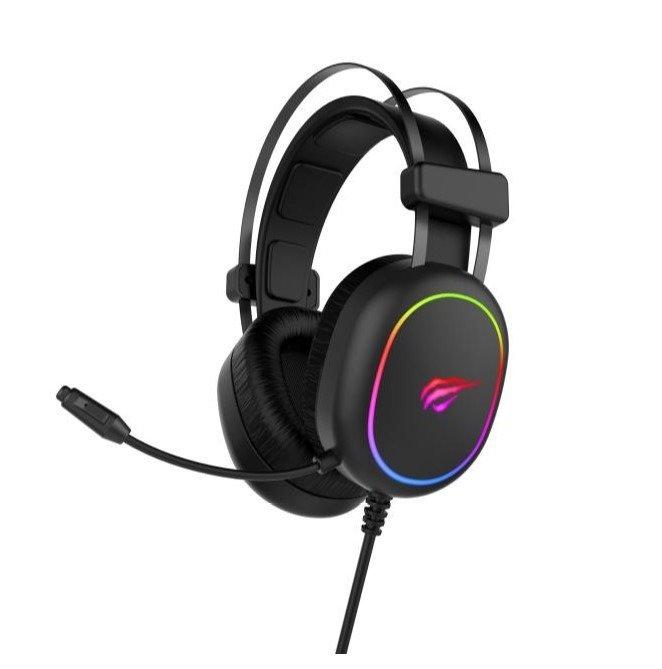 HEADSET GAMING HAVIT GAMENOTE H2016D RGB+2JACK 3.5MM ,Headphones & Mics