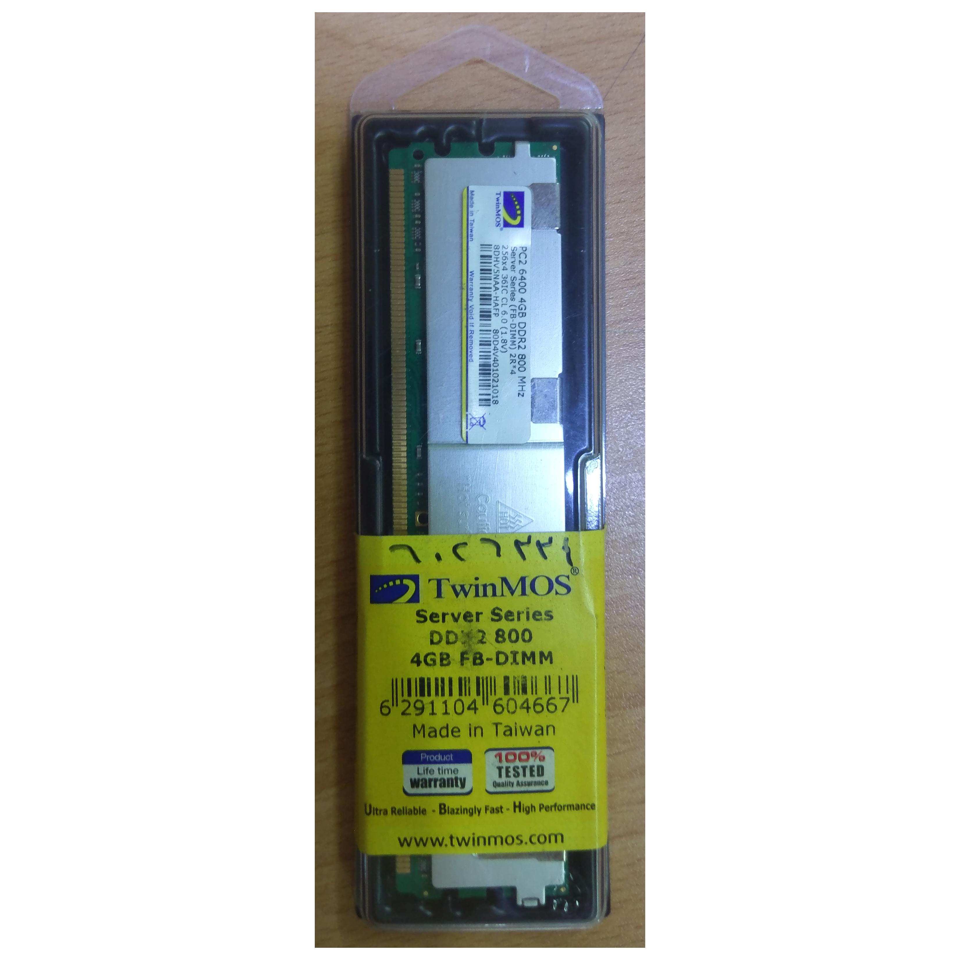 DDR2 4G PC6400-800 MHz TWINMOS ECC REG FOR SERVER ,Server RAM