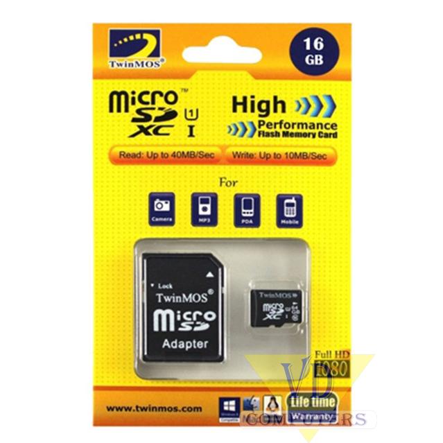 RAM 16GB MICRO SD FLASH CARD TWINMOS CLASS 6 ,Flash Card