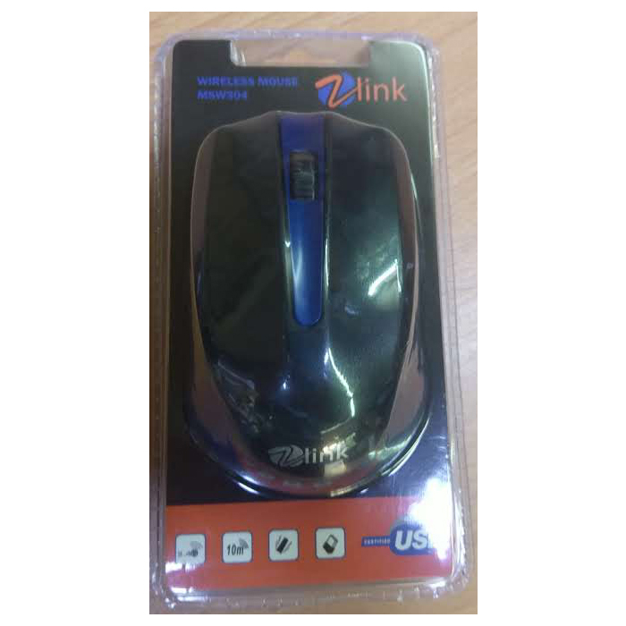 MOUSE WIRELESS 2.4GHZ ZLINK MSW-304 COLOR 1600DPI UP TO 10M ,Mouse