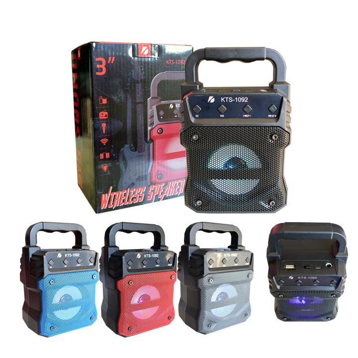 SPEAKER BLUETOOTH KTS-1092 FOR MP3 & MOBILE & FM & SD CARD USB & AUX & MIC ,Speakers