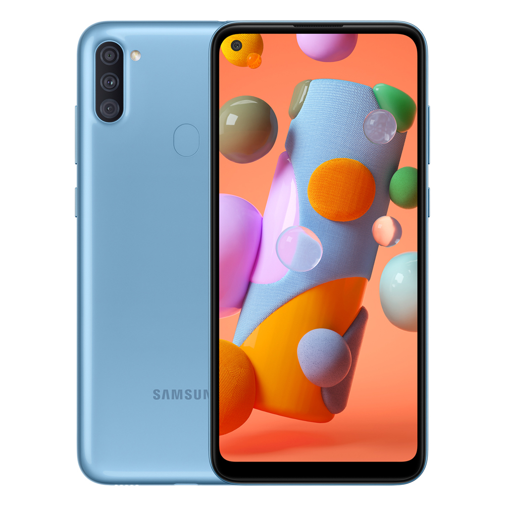 MOBILE PHONE SAMSUNG 6.4 OCTA CORE 1.8GHZ 2GB 32GB DUAL SIM GALAXY A11 BLUE ,Android Smartphone