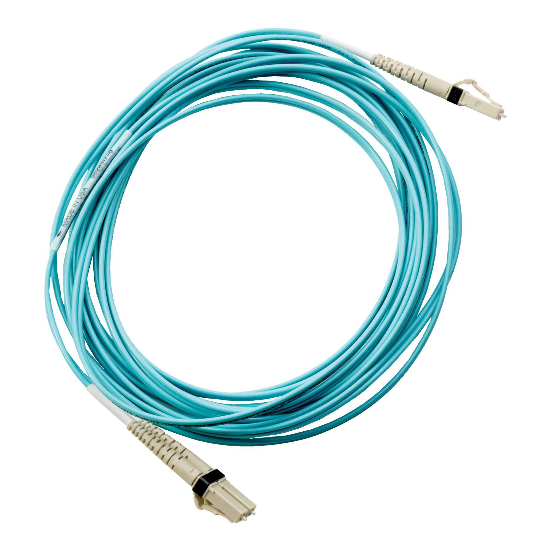 HP Premier Flex LC/LC Multi-mode OM4 2 fiber 5m Cable PART NO.(QK734A) ,Network Cables