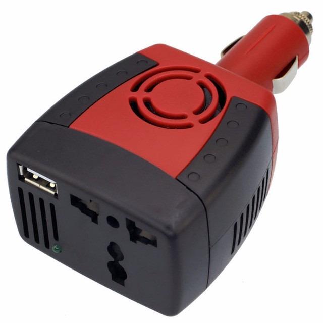 انفيرتر للسيارة / محول من 12Vالى 220V مع مدخل USB 5v يدخل في جكة القداحة / يحول من 12Vالى220// 150W تقريبا  مدخل USB 5V فعلي ,Inverters