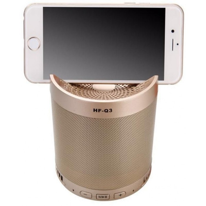 SPEAKER BLUETOOTH & TF CARD & USB FLASH & FM FOR FOR MOBILE Q3 COLOR مع ستاند للموبايل ,Speakers