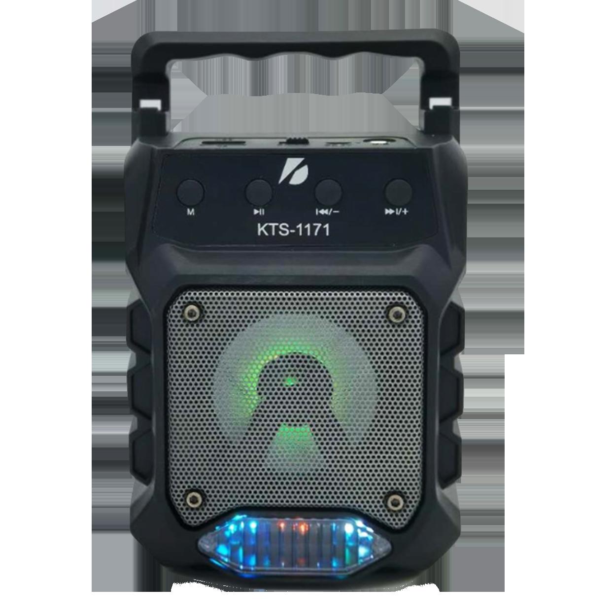 SPEAKER BLUETOOTH KTS-1171 FOR MP3 & MOBILE & FM & SD CARD USB & AUX & MIC مع ستاند للموبايل ,Speakers