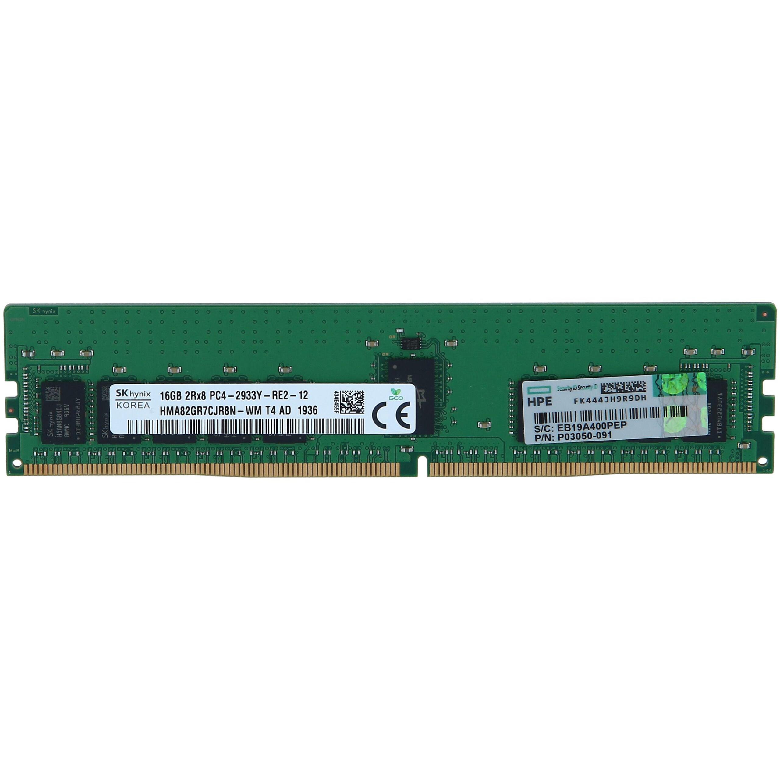 DDR4 16GB (1x16GB) HPE  Dual Rank x8 PC-2666 CAS-19-19-19 Unbuffered Standard Memory Kit (879507-B21) ,Server RAM