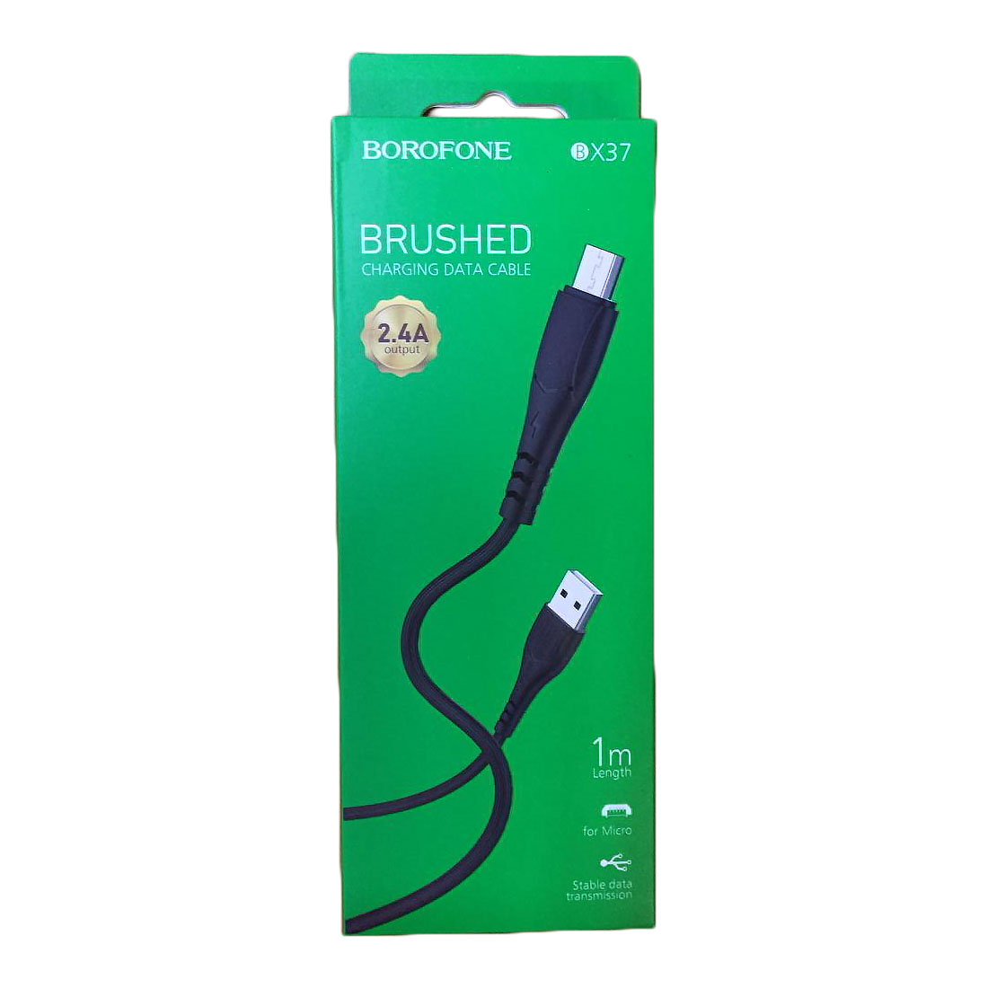 CABLE MICRO USB DATA & CHARGE FOR SMARTPHONE BOROFONE 2.4A BX 37 ,Other Smartphone Acc