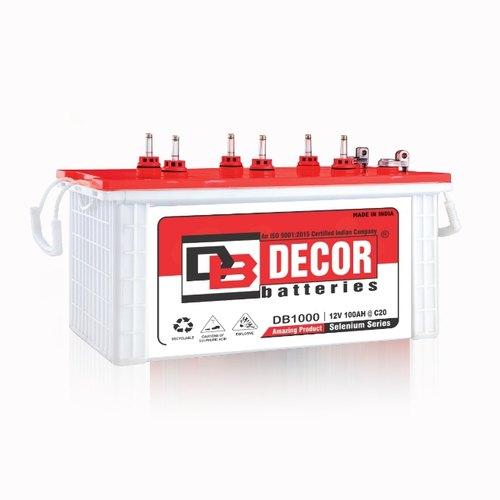 BATTERY DECOR TUBULAR  DST1000 12V/100AH  سائله هنديه انبوبيه ,Batteries