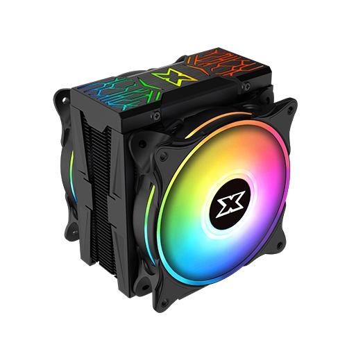 CPU AIR COOLER INTEL & AMD  XIGMATEK WINDPOWER BRO DUAL GALAXY II Pro ARGB Fan EN44276 ,Fan Cooler