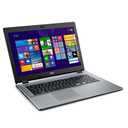 NOTEBOOK ACER ASPIRE E5-771G-54UR  I5 4210U 1.7 UP TO 2.7GHZ 3MB DDR3 8G HDD 1T VGA INTEL  LED 17.3 FHD GRAY مستعمل بطاريه ساعه ,Used Laptops