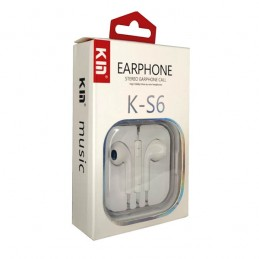 EARPHONE KIN HIGH QUALITY FOR IOS/ANDROID VOLUME & CALL CONTROL  K-S6 ,Smartphones & Tab Headsets