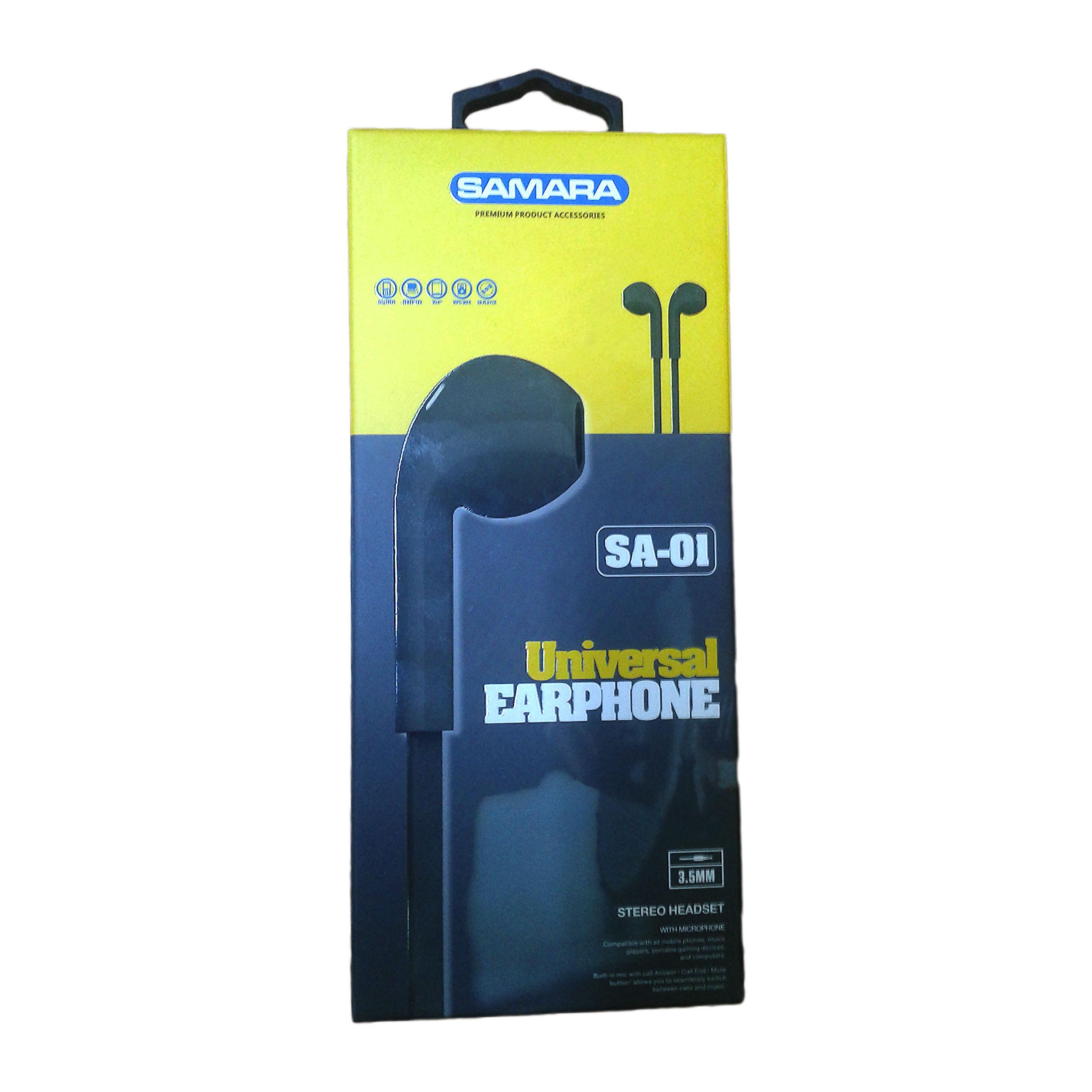 EARPHONE SAMARA HIGH QUALITY FOR SMARTPHONE OR TAB + VOLUME CONTROL  SA-01 ,Smartphones & Tab Headsets