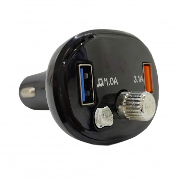 CAR FM TRANSMITTER ALLISON - CHARGER + USB + SD SLOT + AUX IN +BLUETOOTH+ WITH SCREEN+REMOTE A950 ,Media Players Accessories