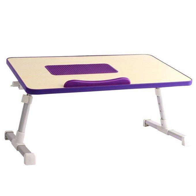 طاولة لابتوب خشب متحركة مع مروحة تبريد ,Laptop Accessories