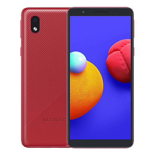 MOBILE PHONE SAMSUNG 5.3 QUAD CORE 1.5GHZ 1GB 16GB DUAL SIM GALAXY A01 CORE RED ,Android Smartphone