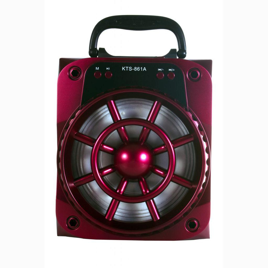 SPEAKER BLUETOOTH KTS-861A FOR MP3 & MOBILE & FM & SD CARD USB & AUX  مع ستاند للجوال ,Speakers