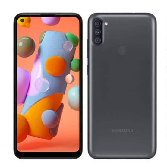 MOBILE PHONE SAMSUNG 6.4 OCTA CORE 1.8GHZ 2GB 32GB DUAL SIM GALAXY A11 BLACK مستعمل -معرف على الشبكة ,Android Smartphone