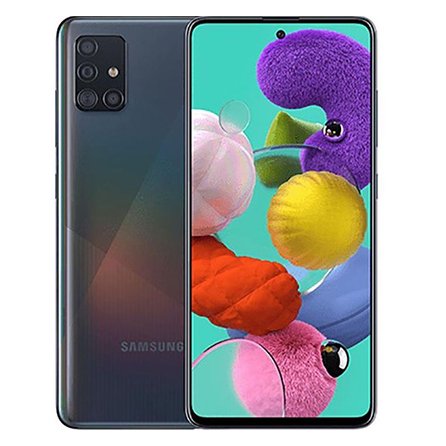 MOBILE PHONE SAMSUNG 6.7 OCTA CORE 2.2GHZ 8GB 128GB DUAL SIM GALAXY A71 - BLACK مستعمل -معرف على الشبكة ,Android Smartphone