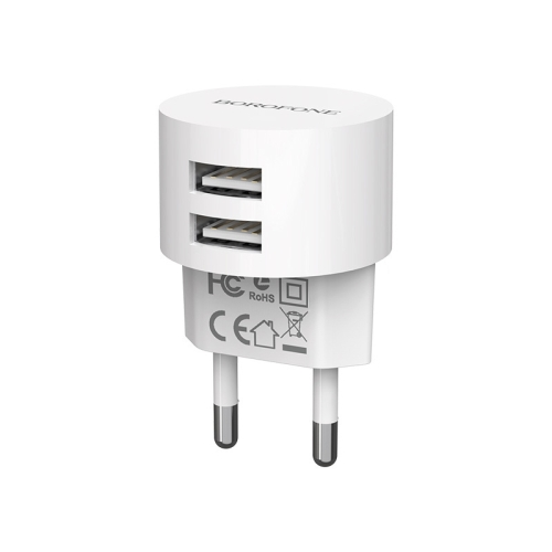 CHARGER BOROFONE DUAL USB FOR MOBILE&TAB ANDROID 2.4  BA23A - راسيه شاحن بدون كبل ,Smartphones & Tab Chargers