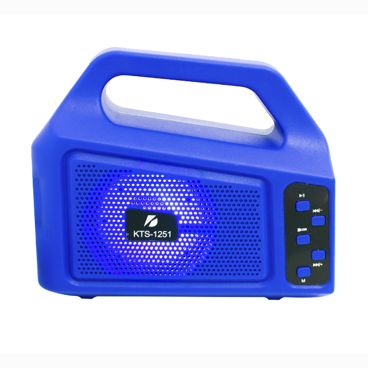 SPEAKER BLUETOOTH KTS-1251 FOR MP3 & MOBILE & FM & SD CARD USB & AUX & MIC سبيكر بلوتوث مع بيل مع شحن طاقة ,Speakers