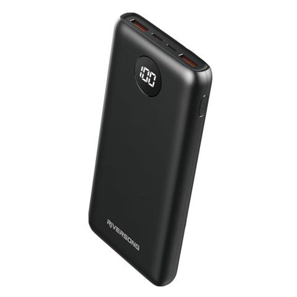 EXTERNAL BATTERY RIVERSONG 20000 MAH FOR SMART DEVICES POWER BANK WITH LCD PB55 ,Smartphones & Tab Power Banks