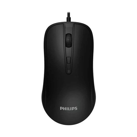 MOUSE PHILIPS M214/SPK7214 OPTICAL LED UP TO 1600 DPI USB BLACK ,Mouse