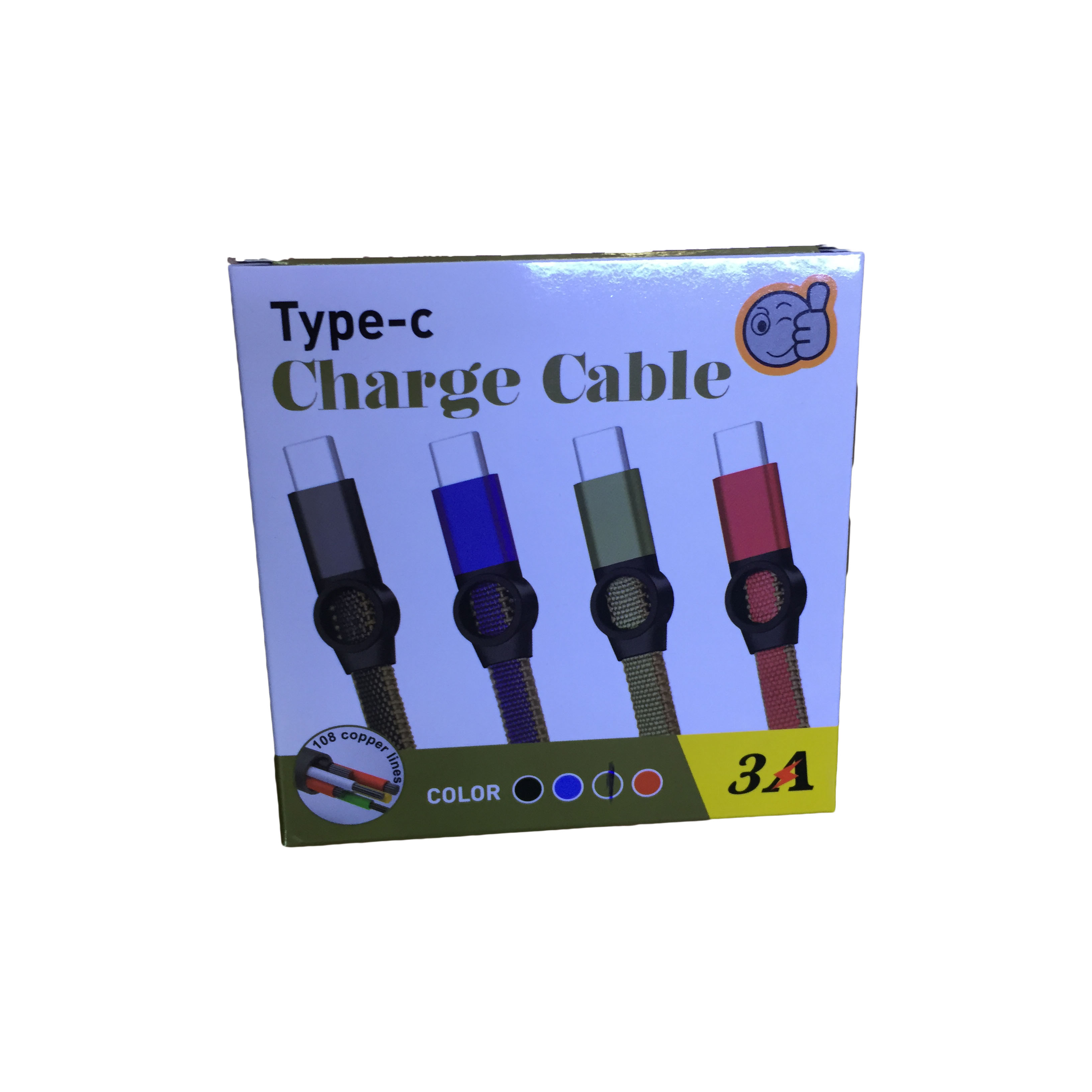 CABLE  USB TYPE-C DATA & CHARGE FOR SMARTPHONE 3.0A A919 قماش جوده عاليه ,Other Smartphone Acc