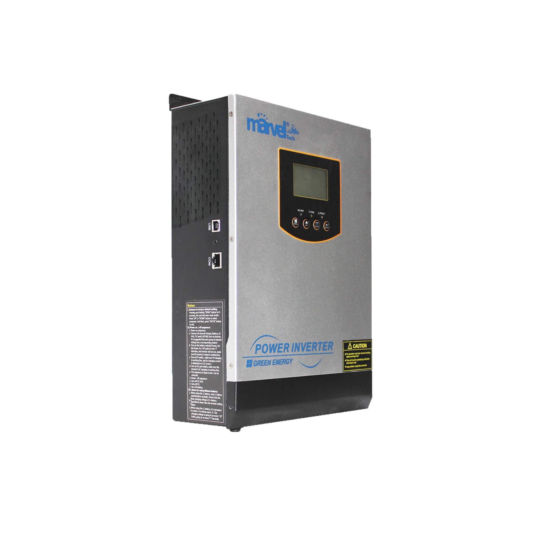 INVERTER MARVEL-SOLAR  1000W/12V CHARGER 20A / MPPT PV 60-MAX WALL INVERTER  MIS II-1000/ PVPOWER 720W ,Inverters