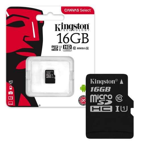 RAM MICRO SD 16G FLASH CARD KINGSTON CLASS 10 ,Flash Card