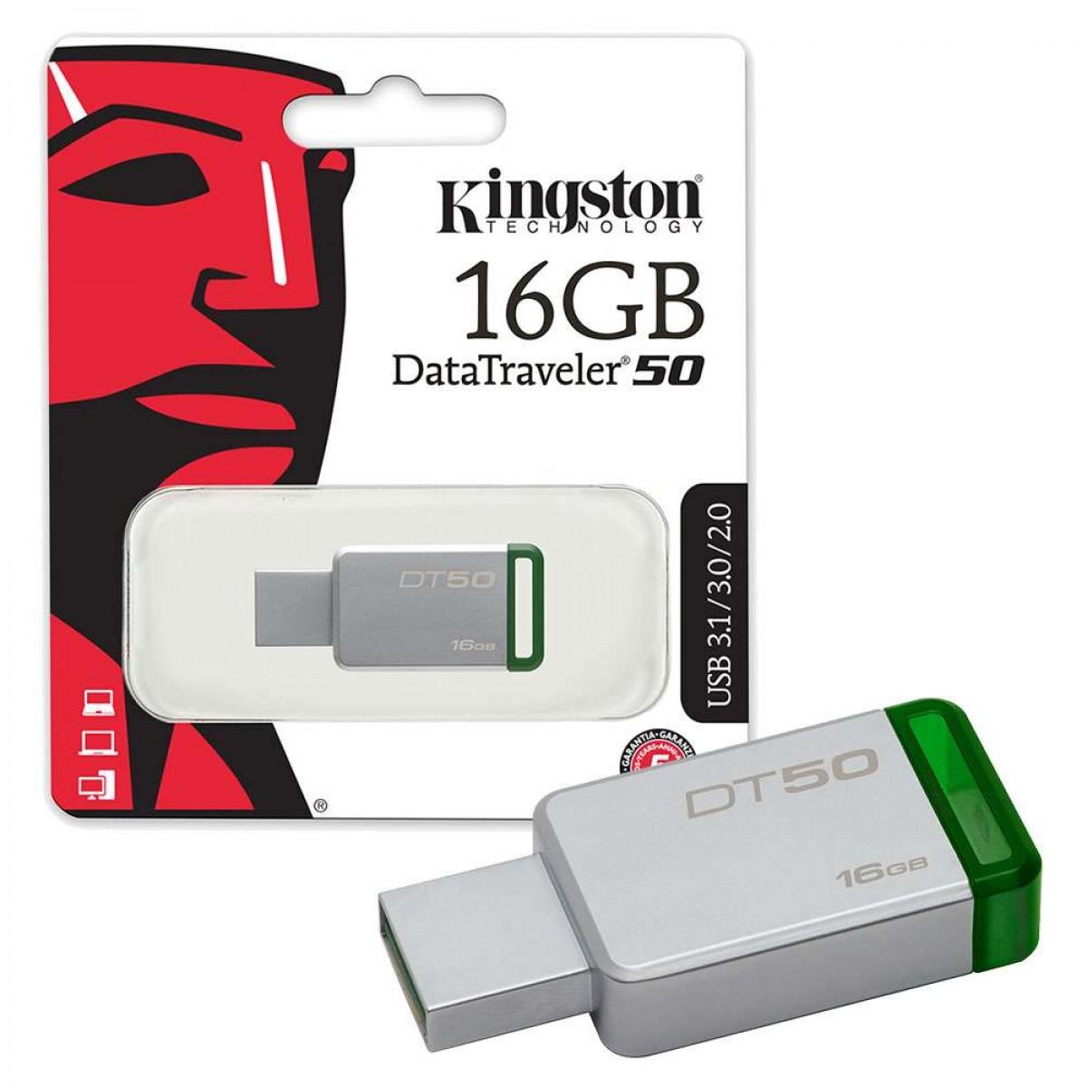 RAM USB 16GB FLASH KINGSTON DataTraveler 50 USB 3.0 ,Flash Memory